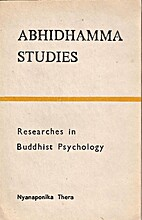 Abhidharma studies; researches in Buddhist…