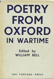 Poetry from Oxford in wartime de William…