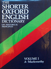 The Shorter Oxford English Dictionary…