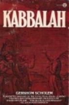 Kabbalah by Gershon Scholem