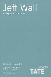Jeff Wall: Photographs 1978-2004 - October…