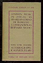 London Music in 1888-89 by Bernard Shaw