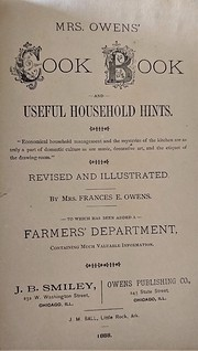 Mrs. Owens' cook book and useful household…