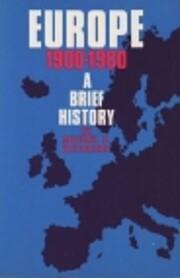 Europe, 1900-1980: A Brief History por…