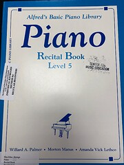 Recital Book Level 5 (Alfred's Basic Piano…