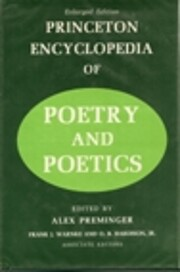 Princeton Encyclopedia of Poetry and Poetics…