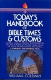 Today's handbook of Bible times & customs av…