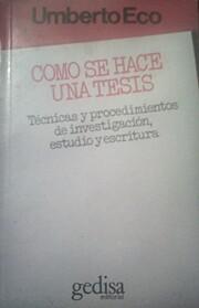 Cómo se hace una tesis af Umberto Eco