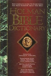 Holman Bible Dictionary av Trent C. Butler