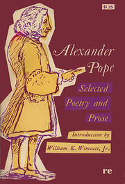 Selected poetry and prose por Alexander Pope