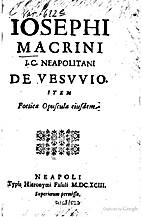 Iosephi Macrini J. C. Neapolitani De Vesuvio…