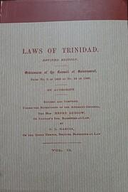 Laws of Trinidad (Revised Edition)…