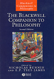The Blackwell Companion to Philosophy, 2nd…