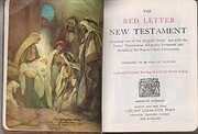 The red letter New Testament