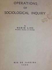 Operations Of Sociological Inquiry af Mário…