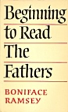 Beginning to Read the Fathers by Boniface…
