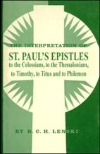 The Interpretation of St. Paul's Epistles to…