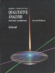 Qualitative Analysis and Ionic Equilibrium…