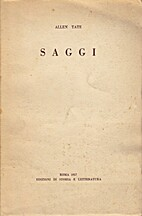 Saggi by Allen Tate