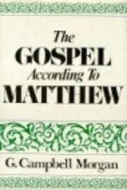 Gospel According to Matthew de G. Campbell…