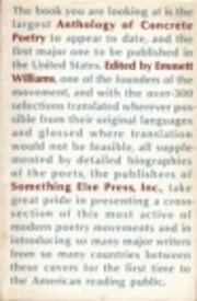 Anthology of Concrete Poetry de Emmett…