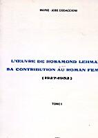 L'œuvre de Rosamond Lehmann tome 2 by M_J…