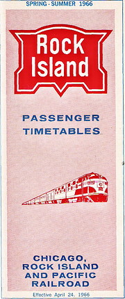Rock Island Passenger Timetables 1966