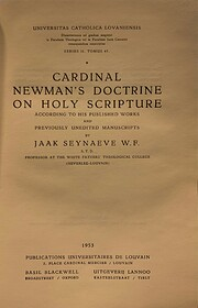 Cardinal Newman's doctrine on Holy Scripture…