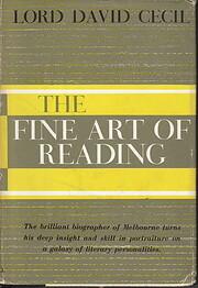 The Fine Art of Reading av Lord David Cecil