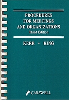 Procedures for meetings and organizations by…