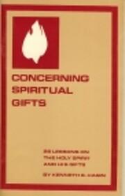 Concerning Spiritual Gifts – tekijä:…