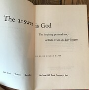The answer is God; the inspiring personal…