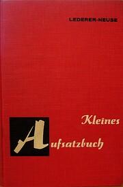 Kleines Aufsatzbuch por Herbert Lederer