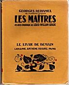Les Maîtres by Georges Duhamel