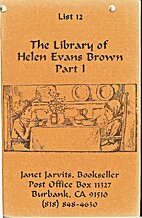 The Library of Helen Evans Brown Part I by…