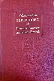 Morton Allen directory of European passanger…