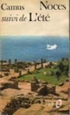 Nuptials Summer By Albert Camus Librarything
