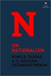 On Nationalism – tekijä: Romila Thapar
