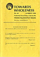 Towards wholeness, № 64, Summer 1989 by…