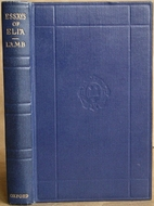 the essays of elia by charles lamb librarything the essays of elia by charles lamb