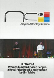 National Conference 2008 Plenary 4 Whole…