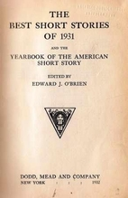 The Best Short Stories of 1931 and the…