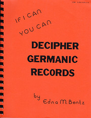 If I Can You Can Decipher Germanic Records…