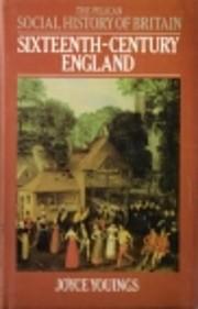 Sixteenth-Century England de Joyce Youings