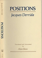 Positions by Jacques Derrida