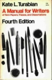 A Manual for Writers of Term Papers, Theses,…