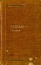 Germany Volume III: Economic Geography
