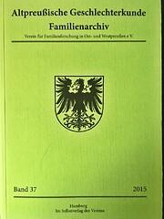 Altpreußische Geschlechterkunde de Verein…