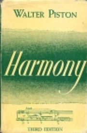 Harmony Third Edition de Walter Piston