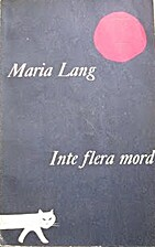 No More Murders! by Maria Lang
